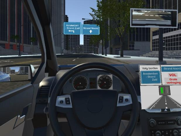 Opvolggedrag en werkbelasting tijdens rijden met digitale verkeersberichten in een rijsimulator